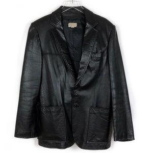 Yves Saint Laurent VTG Leather Jacket Coat 40